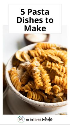 Healthy Dinner Recipes, Vegan Recipes, Good Food, Yummy Food, Chicken Pasta, Quick Meals, Pasta Dishes, Appetizers, Vegetarian