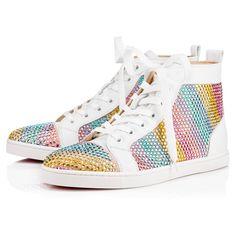 CHRISTIAN LOUBOUTIN Rainbowbip Flat Version Multi Suede - Women Shoes - Christian Louboutin. #christianlouboutin #shoes #