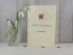 Personalised birthday card, Ideal teen card, Alphabet card for teachers or teaching assistants
