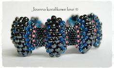 Brace;et Bransoleta peyote beaded jewelry