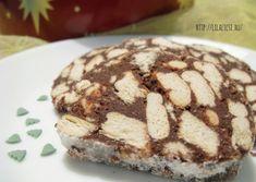 Gesztenyés csokoládészalámi -- Mindmegette.hu Deserts, Muffin, Baking, Breakfast, Food, Hungarian Recipes, Morning Coffee, Bakken, Essen