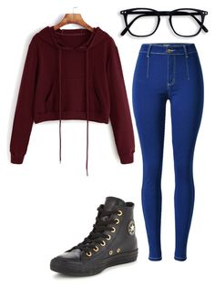 """Untitled #1026"" by ladylunaslife on Polyvore featuring Converse"