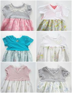 Nighties from tee-shirts and vintage pillowcases.