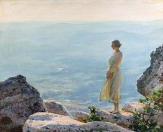"""Charles Courtney Curran """"Cliffs, Crags, Moor"""""""