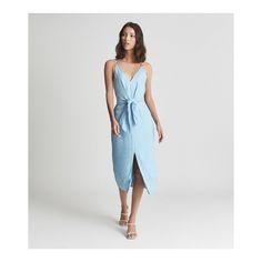 Iconic Dresses, Light Blue Dresses, Metallic Sandals, Reiss, Dress Collection, Style Me, Wrap Dress, Fashion Outfits, Summer Dresses