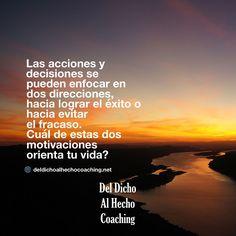 Hacia lograr el éxito o hacia evitar el fracaso?  #Coaching #DesarrolloHumano #InteligenciaEmocional #Bienestar