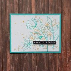 Spring flowers stamp set #SSSFAVE