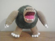 This is the next in a very long list of requests from a Pokemon-obsessed Etsy customer that I have. Golem reminds me a lot of a soccer ...
