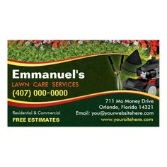 210 best lawn care business cards images on pinterest business landscaping lawn care mower business card template friedricerecipe Images