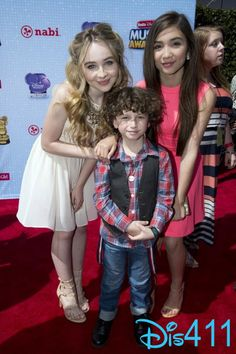 Rowan Blanchard, Sabrina Carpenter and August Maturo