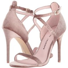 Chinese Laundry Lavelle (Nude Rich Velvet) High Heels ($56) ❤ liked on Polyvore featuring shoes, sandals, high heel shoes, high heel sandals, nude open toe shoes, nude sandals and open toe high heel shoes