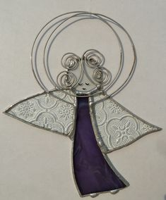 Stained Glass Angel Suncatcher (P). $18.50, via Etsy.