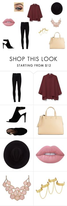 """""""Sans titre #85"""" by inoana ❤ liked on Polyvore featuring Frame Denim, MANGO, Tory Burch, Calvin Klein, Brixton, Lime Crime and House of Harlow 1960"""