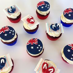 Cupcake Toppers, Cupcake Cakes, Cupcake Ideas, Cup Cakes, Australia Cake, Australian Party, Cake Stall, Caking It Up, Cute Cupcakes