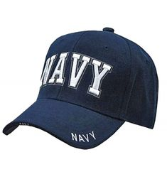 U.S. Navy Veteran Baseball Cap Vet Military Mens One Size Navy Blue NAVY Hat  3D RD CQ120PF1Q2R 339cc504b03e