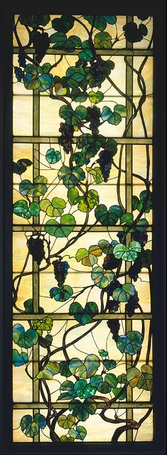 "Louis Comfort Tiffany ""Grapevine Panel"" ca. 1902-15 by Plum leaves, via Flickr"