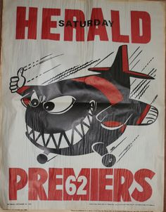 Weg Premiers Poster 1962 Essendon Bombers