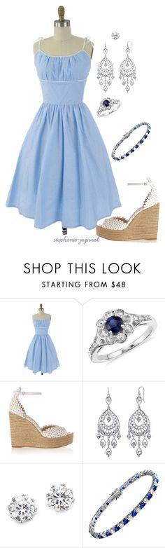 """Cora's Outfit for Audrianna's Baby Shower"" by stephanie-jozwiak ❤ liked on Polyvore featuring Blue Nile, Tabitha Simmons, 1928, Kenneth Jay Lane and Diamonfire"
