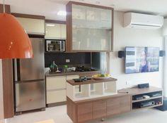 Com 54m², este apartamento fica em Campinas, no interior do estado de São Paulo, e foi projetado pela Espaço AU – Arquitetura.