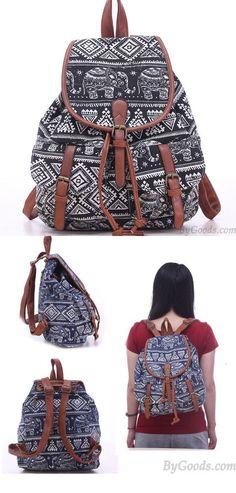 7d0d19bb90 Sac à dos d'école d'éléphant de loisirs pour le sac à dos d'université de  sac de toile de Totem de fille only $32.99