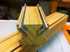 Jointer/planer Knife Sharpening Jig - by woodshaver Tony C . Woodworking Jigsaw, Woodworking Crafts, Diy Vegetable Storage, Knife Grinding Jig, Wood Jig, Woodshop Tools, Best Jigsaw, Blade Sharpening, Homemade Tools