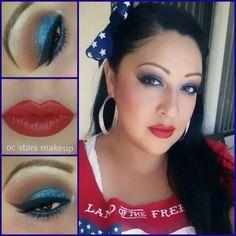 My 4th of July Makeup www.ocstarsmakeup.com
