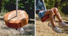 Jednoduchá dřevěná houpačka