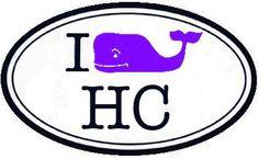 "Vineyard Vines - ""I (Whale) HC"" (College of the Holy Cross) purple whale sticker #vineyardvines"