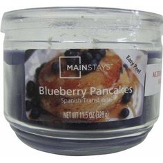 Mainstays 11.5 oz Candle, Blueberry Pancakes