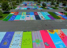 These students painted their parking spots, and the results are a win for arts education.