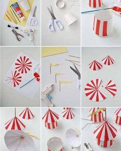 DIY Circus Party Hats discovered by mg on We Heart It Vintage Circus Party, Circus Carnival Party, Circus Theme Party, Carnival Birthday Parties, Circus Birthday, First Birthday Parties, Birthday Party Themes, Circus Wedding, Circus Circus
