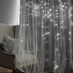 Shop for Aurora Home Star Punch Tulle Overlay Blackout Curtain Panel Pair. Get free delivery On EVERYTHING* Overstock - Your Online Home Decor Outlet Store! Thermal Curtains, Grommet Curtains, Hanging Curtains, Panel Curtains, Curtain Panels, Girls Bedroom, Bedroom Decor, Bedroom Curtains, Bedroom Ideas