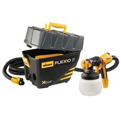 Wagner Flexio 890 Kit Stationary HVLP Paint Sprayer at Lowe's. The Wagner Flexio 890 is an indoor and outdoor portable paint system with integrated storage. The 890 comes with the innovative iSpray Nozzle for broad Concrete Floor Coatings, Concrete Resurfacing, Concrete Floors, Exterior Paint, Interior And Exterior, Interior Plants, Interior Design, Flat Interior, Exterior Colors