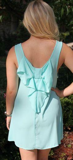 Mint Bow Back Dress ♥