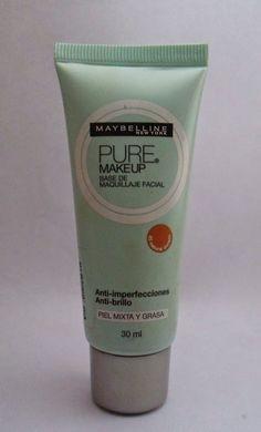 Zone Make up: Hablemos de bases de maquillaje: Pure Make up de Maybelline