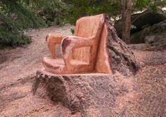 Sculpture sur souche                                                                                                                                                      Plus