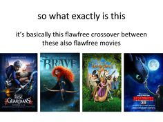 Hehe, an explanation of the big four for those who haven't yet been sucked in to the rise of the brave tangled guardians