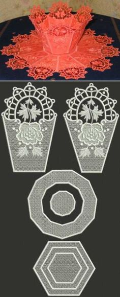 Advanced Embroidery Designs - Organza Bowl and Doily Set