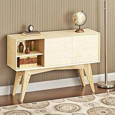 Mid-century Modern Credenza Woodworking Plan, Furniture Entertainment Centers