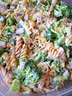 Broccoli Cheddar Pasta Salad...these are the BEST Salad Recipes!