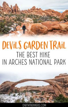 The Devils Garden Trail is the best hike in Arches National Park. Get all of the details in this article. #arches #devilsgarden #hiking #archesnationalpark