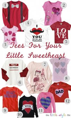 valentine's day tees for #kids