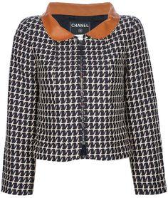 Chanel Vintage contrast collar jacket