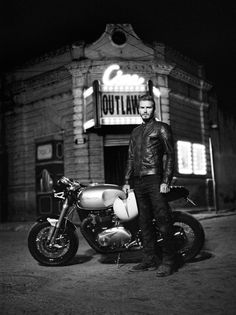 David Beckham Talks Motorcycle Stunts, Harvey Keitel, and His New Bad Boy Role for Belstaff
