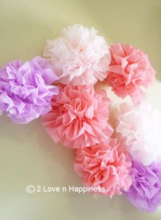 DIY Weddings Decor /Parties Paper Flower by 2LovenHappiness
