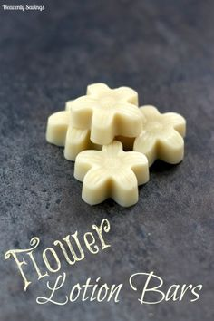 Flower Lotion Bars DIY Mother's Day Gift Idea