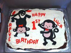 cute monkey cake via @Lucy Kemp Lean