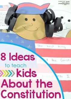 It can be tricky to get kids interested in learning about the Constitution. Check out these 8 ideas and be prepared for Constitution Day! Even if you teach in a special education classroom, check out these ideas. 3rd Grade Social Studies, Kindergarten Social Studies, Social Studies Activities, Teaching Social Studies, Classroom Activities, Teaching Kids, Teaching Resources, Classroom Ideas, Student Teaching