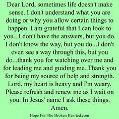 prayer when life doesn't make sense Prayer For Guidance, Power Of Prayer, Night Prayer, Prayer Times, Prayer For Today, Daily Prayer, Prayer Quotes, Faith Quotes, Godly Quotes