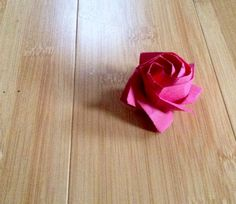 Rose, designed by Toshikazu Kawasaki, folded by Teru Kutsuna.